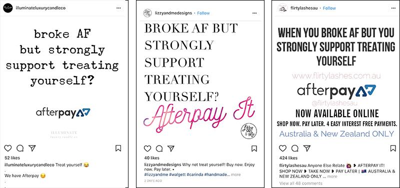 Broke AF promoting AfterPay